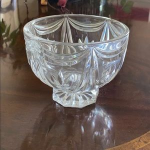 Waterford footed candy bowl